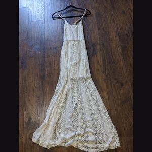Billabong boho beach lace sleeveless Maxi dress SM